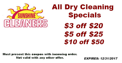 All Drycleaning Special